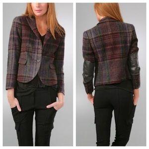 Theory Plaid Shamara Jacket